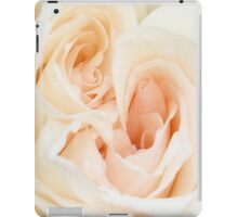 A Double Hearted Romantic White Rose iPad Case/Skin