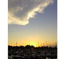 Marina Sunset II Photographic Print