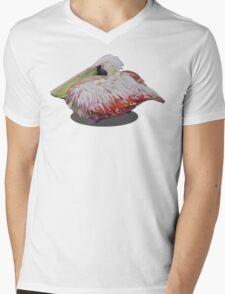 resting pelican Mens V-Neck T-Shirt