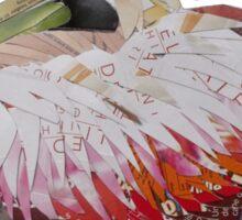 resting pelican Sticker