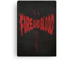 House Targaryen, Fire and Blood 2 Canvas Print