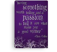 Being a Writer Canvas Print