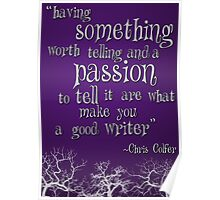 Being a Writer Poster
