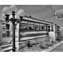 Black and White Diner HDR photography Photographic Print
