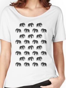 Cool Africa Pattern Elephant Picture Women's Relaxed Fit T-Shirt