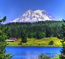 Lake Rapjohn & Mt. Rainier by Tori Snow