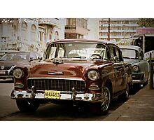 Cuban Cars Photographic Print