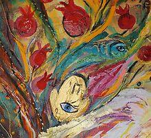 Original painting fragment 18 by Elena Kotliarker