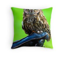 Tiny Owl Throw Pillow