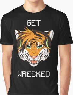 GET WRECKED - Tiger Graphic T-Shirt