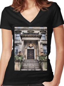 Enchanted Doorway Women's Fitted V-Neck T-Shirt