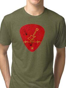 Guitar Chip VRS2 Tri-blend T-Shirt