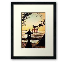 Vintage Tori Gate Framed Print
