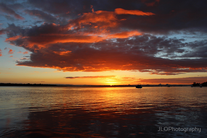 Sunset on the Water by JLOPhotography