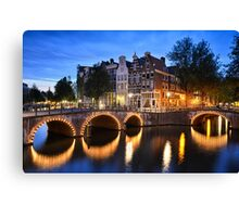 Nightly Amsterdam Canvas Print