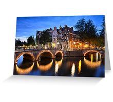 Nightly Amsterdam Greeting Card