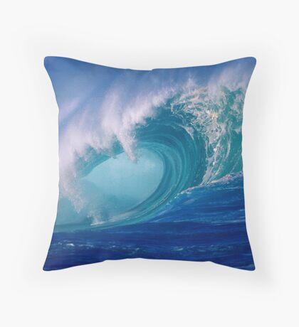 Powerful Hawaiian North Shore Wave Throw Pillow