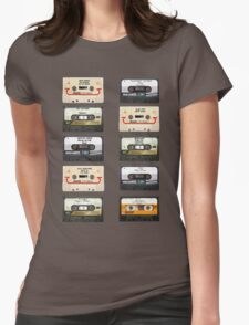 Vintage tapes Womens Fitted T-Shirt
