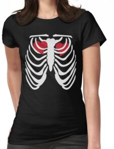 Two Hearts at One Time Womens Fitted T-Shirt