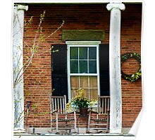 Front Porch Rockers cozy home decor Poster