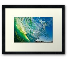 Amazing Wave Splash at Makena Framed Print