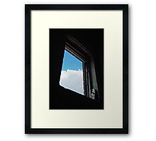 Window to the world,just out of reach  Framed Print