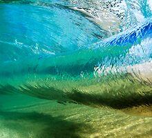 Glassy Hawaiian Wave Tube by printscapes