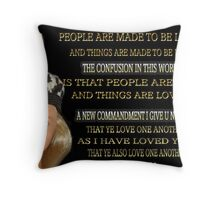 ✿♥‿♥✿CONFUSION- - HELP MAKE IT RIGHT ✿♥‿♥✿ Throw Pillow