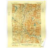 USGS TOPO Map New Hampshire NH Rumney 330331 1932 62500 Poster