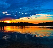 Phyliss Lake, Alberta, Canada by Laurast