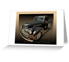 1942 Chevy Pickup Rat Rod Greeting Card