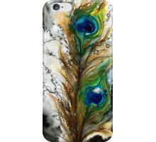 Abstract Watercolor Peacock Feather iPhone Case/Skin