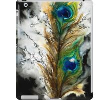 Abstract Watercolor Peacock Feather iPad Case/Skin