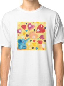 Love - Rondy the Elephant with colorful hearts Classic T-Shirt