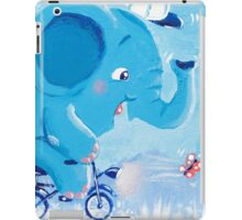 Cycling - Rondy the Elephant on his bike iPad Case/Skin