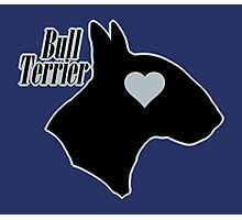Bull Terrier <3, outlined! Photographic Print