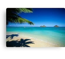 Mokulua Islands at Lanikai Beach Canvas Print