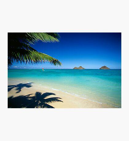 Mokulua Islands at Lanikai Beach Photographic Print