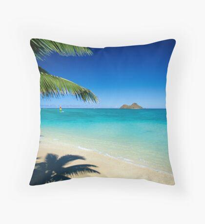 Mokulua Islands at Lanikai Beach Throw Pillow