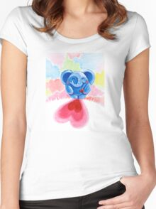Me And My Heart - Rondy the Elephant In Love Women's Fitted Scoop T-Shirt