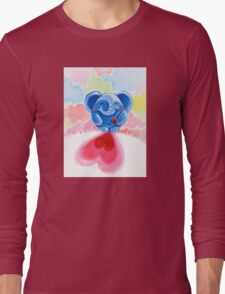 Me And My Heart - Rondy the Elephant In Love Long Sleeve T-Shirt