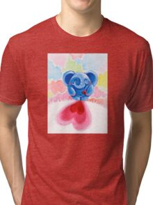 Me And My Heart - Rondy the Elephant In Love Tri-blend T-Shirt