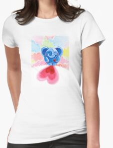Me And My Heart - Rondy the Elephant In Love Womens Fitted T-Shirt
