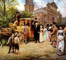 George Washington Arriving At Christ Church by warishellstore