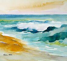 Waves Crashing at Billows by printscapes