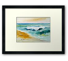 Waves Crashing at Billows Framed Print