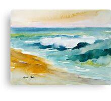 Waves Crashing at Billows Canvas Print