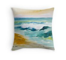 Waves Crashing at Billows Throw Pillow