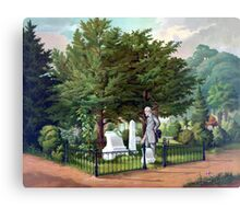 Robert E. Lee Visits Stonewall Jackson's Grave Canvas Print