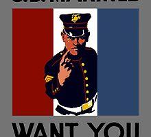 The U.S. Marines Want You by warishellstore
